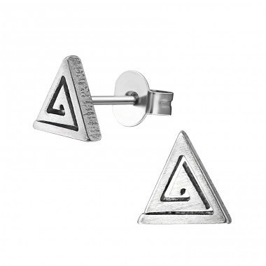 Triangle - 316L Surgical Grade Stainless Steel Steel Ear Studs A4S27991