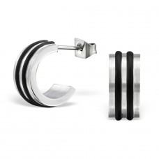 Patterned - 316L Surgical Grade Stainless Steel Steel Ear Studs A4S28202