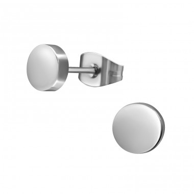 Round - 316L Surgical Grade Stainless Steel Steel Ear Studs A4S28762