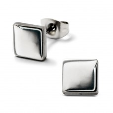 Square - 316L Surgical Grade Stainless Steel Steel Ear Studs A4S28764