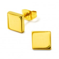 Square - 316L Surgical Grade Stainless Steel Steel Ear Studs A4S28765