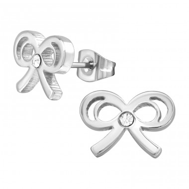 Bow - 316L Surgical Grade Stainless Steel Steel Ear Studs A4S28771