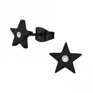 Star - 316L Surgical Grade Stainless Steel Steel Ear Studs A4S28777