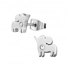 Elephant - 316L Surgical Grade Stainless Steel Steel Ear Studs A4S28783