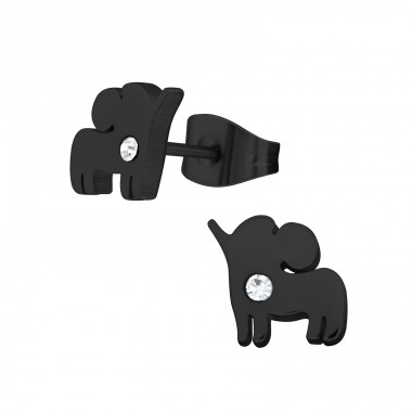 Elephant - 316L Surgical Grade Stainless Steel Steel Ear Studs A4S28784