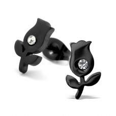 Tulip - 316L Surgical Grade Stainless Steel Steel Ear Studs A4S28791