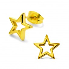 Star - 316L Surgical Grade Stainless Steel Steel Ear Studs A4S28799