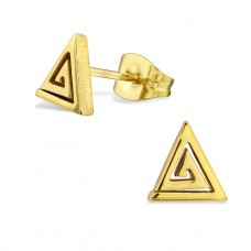 Triangle - 316L Surgical Grade Stainless Steel Steel Ear Studs A4S28814