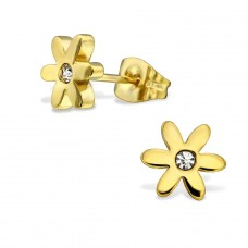 Flower - 316L Surgical Grade Stainless Steel Steel Ear Studs A4S28816