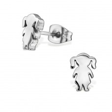 Girl - 316L Surgical Grade Stainless Steel Steel Ear Studs A4S28822