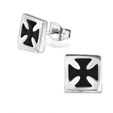 Cross - 316L Surgical Grade Stainless Steel Steel Ear Studs A4S28824