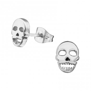 Skull - 316L Surgical Grade Stainless Steel Steel Ear Studs A4S28830