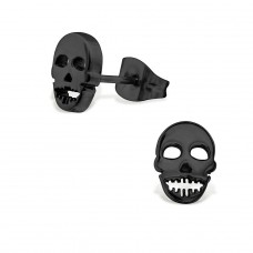 Skull - 316L Surgical Grade Stainless Steel Steel Ear Studs A4S28831