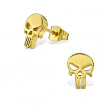 Skull - 316L Surgical Grade Stainless Steel Steel Ear Studs A4S28835