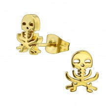 Skull - 316L Surgical Grade Stainless Steel Steel Ear Studs A4S28838