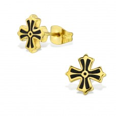 Cross - 316L Surgical Grade Stainless Steel Steel Ear Studs A4S28840