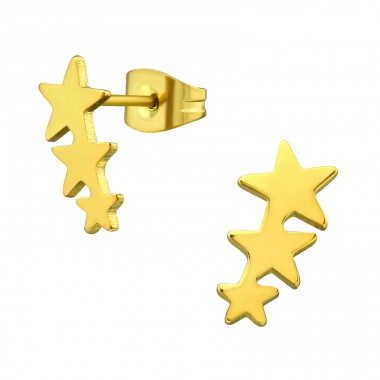 Stars - 316L Surgical Grade Stainless Steel Steel Ear Studs A4S28844