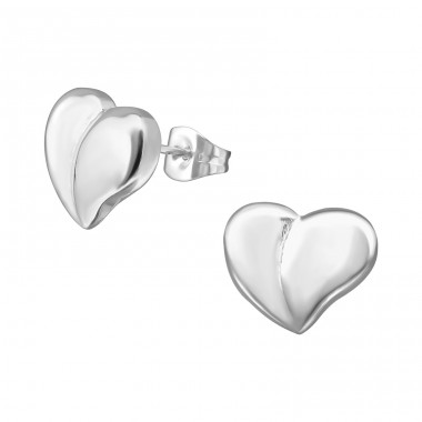 Heart - 316L Surgical Grade Stainless Steel Steel Ear Studs A4S28853
