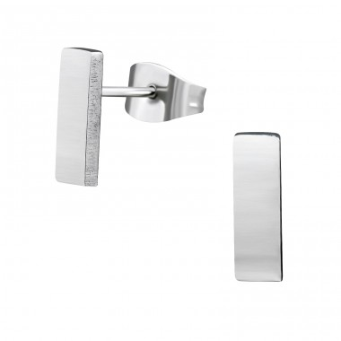 Bar - 316L Surgical Grade Stainless Steel Steel Ear Studs A4S28855