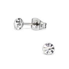 Round - 316L Surgical Grade Stainless Steel Steel Ear Studs A4S29104