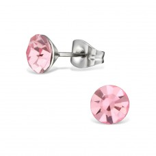 Round - 316L Surgical Grade Stainless Steel Steel Ear Studs A4S29105