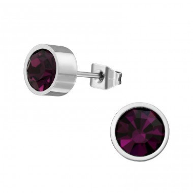 Round - 316L Surgical Grade Stainless Steel Steel Ear Studs A4S29107