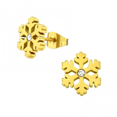 Snowflake - 316L Surgical Grade Stainless Steel Steel Ear Studs A4S29151