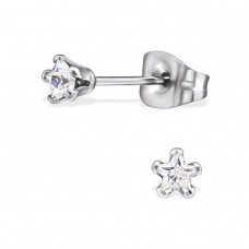 Star - 316L Surgical Grade Stainless Steel Steel Ear Studs A4S29152