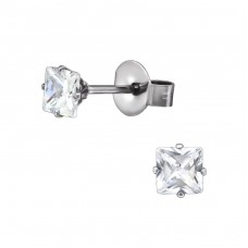 Square - 316L Surgical Grade Stainless Steel Steel Ear Studs A4S29155
