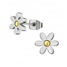 Flower - 316L Surgical Grade Stainless Steel Steel Ear Studs A4S29319