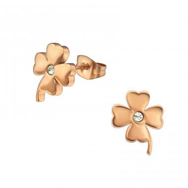 Flower - 316L Surgical Grade Stainless Steel Steel Ear Studs A4S29323