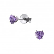 Heart - 316L Surgical Grade Stainless Steel Steel Ear Studs A4S29326