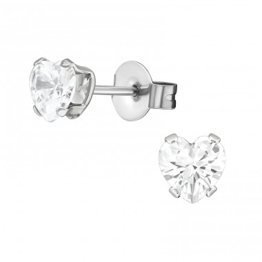 Heart - 316L Surgical Grade Stainless Steel Steel Ear Studs A4S29327