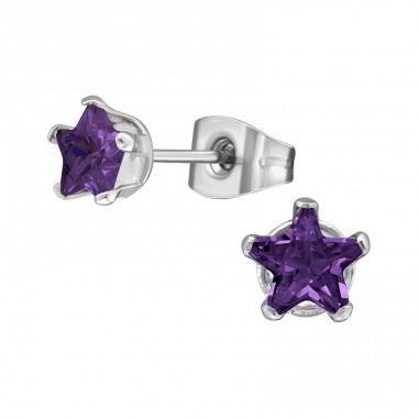 Star - 316L Surgical Grade Stainless Steel Steel Ear Studs A4S29333