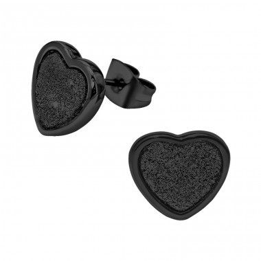 Heart - 316L Surgical Grade Stainless Steel Steel Ear Studs A4S29456