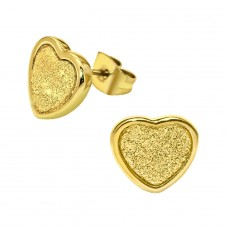 Heart - 316L Surgical Grade Stainless Steel Steel Ear Studs A4S29457