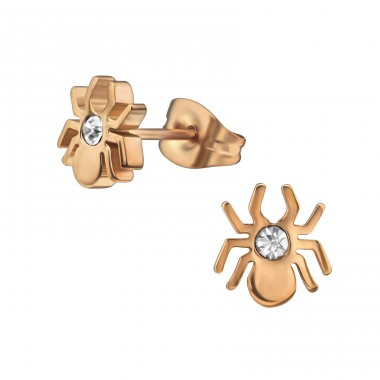 Spider - 316L Surgical Grade Stainless Steel Steel Ear Studs A4S29747