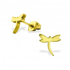 Dragonfly - 316L Surgical Grade Stainless Steel Steel Ear Studs A4S29750