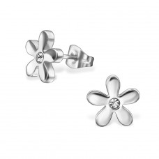 Flower - 316L Surgical Grade Stainless Steel Steel Ear Studs A4S29754