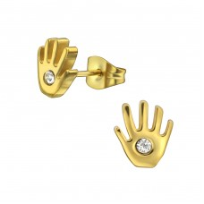 Hand - 316L Surgical Grade Stainless Steel Steel Ear Studs A4S29762