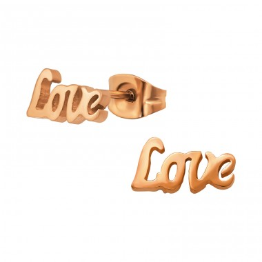 Love - 316L Surgical Grade Stainless Steel Steel Ear Studs A4S29771