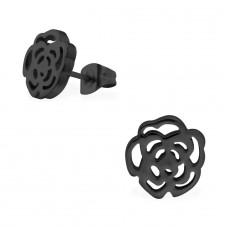 Rose - 316L Surgical Grade Stainless Steel Steel Ear Studs A4S29772