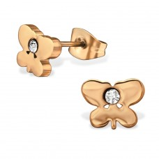 Butterfly - 316L Surgical Grade Stainless Steel Steel Ear Studs A4S29780