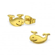 Whale - 316L Surgical Grade Stainless Steel Steel Ear Studs A4S29782