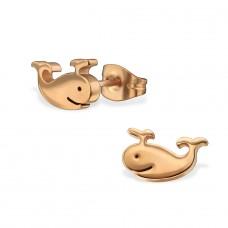 Whale - 316L Surgical Grade Stainless Steel Steel Ear Studs A4S29783