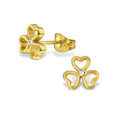 Flower - 316L Surgical Grade Stainless Steel Steel Ear Studs A4S29793
