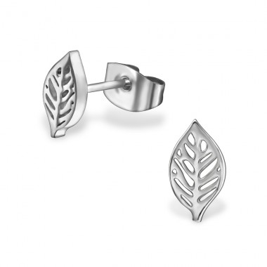 Leaf - 316L Surgical Grade Stainless Steel Steel Ear Studs A4S29798