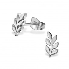 Plant - 316L Surgical Grade Stainless Steel Steel Ear Studs A4S29802