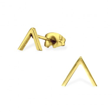 Triangle - 316L Surgical Grade Stainless Steel Steel Ear Studs A4S29803