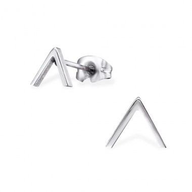 Triangle - 316L Surgical Grade Stainless Steel Steel Ear Studs A4S29804